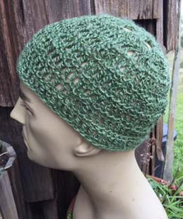 e8acc14216d ... D. Linen skull cap. Custom order for a green summer hat with lots of  ventilation. (SOLD)