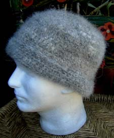 d8b698386d9 B. This watch cap was made from mostly soft undercoat hair from a Shepherd  mix dog. I two-plied the yarn for extra strength. (Custom order)